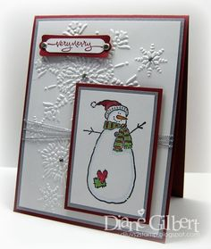 Stampin Up Christmas snowman | Substitute snowman, too cute! Oct SAS? | Stampin' Up Cards - Christmas