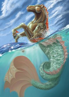 I like this positioning. Hippocampus - The Horse of the Sea by FizikArt.deviantart.com on @deviantART