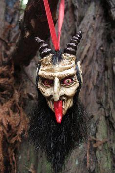 Krampus Ornament Pale by WitchfindersGenStore on Etsy, $30.00