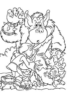 Gummi bears coloring pages for kids, printable free