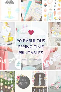 20 Fabulous Free Spring Printables