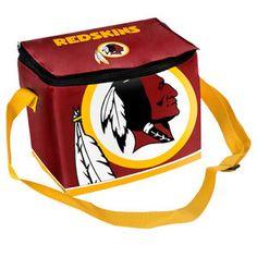 NFL  Washington Redskins Big Logo 12 Pack Zipper Lunch Cooler