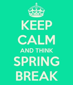 Not the PCB type? Check out my newest blog post for some other fun ways to spend Spring Break!