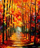 RED ALLEY - LEONID AFREMOV by Leonidafremov