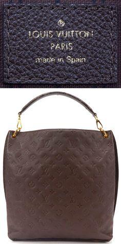 LOUIS VUITTON Authentic Brown Monogram Empreinte Leather Metis Tote Handbag $1600.5