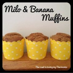 The road to loving my Thermomix: Milo and Banana Muffins