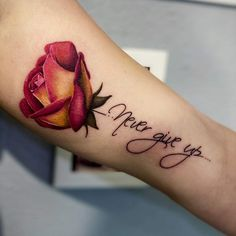 Up Tattoos, Tattoo Drawings, Flower Tattoo Designs, Never Give Up, Tattoo Artists, Tatting, Tattoo Quotes, Tattoo Studio, Detail