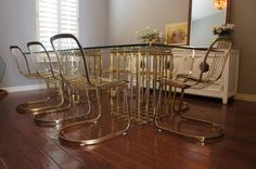 TABLE RESERVED   (8) Chairs Available   Hollywood Regency 1970u0027s Willy  Rizzo For CIDUE