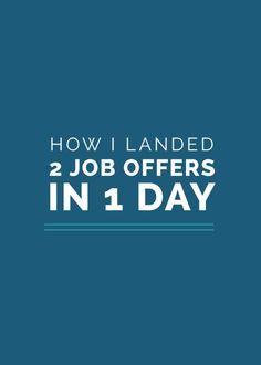 Beautiful How I Landed 2 Job Offers In 1 Day. Job CareerCareer AdviceCareer Change Career SuccessSocial Media TipsSocial NetworksJob ...