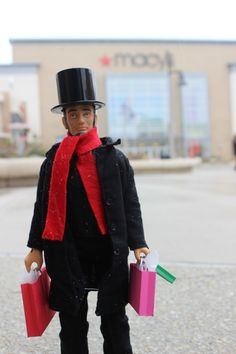 """Getting my shopping on…"" - #MiniAbe - The Promenade Bolingbrook Enjoy Illinois"