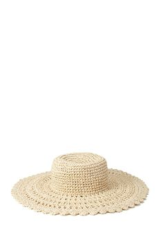 Scalloped Straw Sun Hat | FOREVER21 #Accessories #Hat #SummerForever