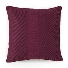 Collier Campbell 1C95103 Ziggurat Geometric Embroidered Decorative Pillow