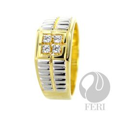 FERI Bloom - Ring Yellow Plates, Gold Set, Bridal Collection, Sterling Silver Jewelry, Confidence, Plating, Just For You, Display, Gemstones