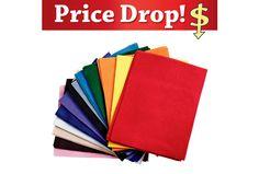 """Disc School Sup.Colored Felt, 9"""" x 12""""  - 50 Sheets 14.68+8.50 =.46"""