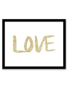 Download and print this free printable Glitter Love wall art for your home or office!
