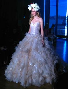 Ines Di Santo SS 2015 Couture Bridal Collection is featuring Gioia gown in cameo pink. Coverage and photo done by #FarrahZhao. Visit PrestonBailey.com for the latest bridal trends and more! #PrestonBailey #WeddingDress #BridalDress