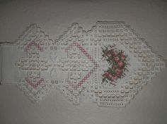 This is a hardanger piece that was designed by Emie Bishop (Cross 'n ...