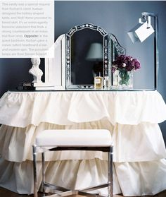 love this ruffle layer look for my office