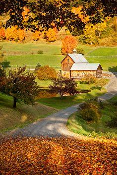 Autumn at Sleepy Hollow Farm near Woodstock, Vermont