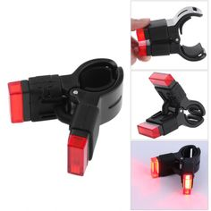 XANES TL02 Bicycle Clip Tail Light USB Rechargeable  Saddle Red Signal Safety Lamp Quick Installation