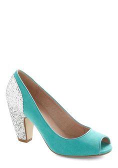 REVEL: Glitter Heel Peep Toes
