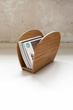 BALANSE, Magazine rack. They come in both birch and oak as well as a variety of colours and finishes. Design: Lisa Nossen.