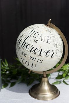 Home is wherever I'm with you globe - Romantic Rustic Wedding at the Steam Whistle Brewery