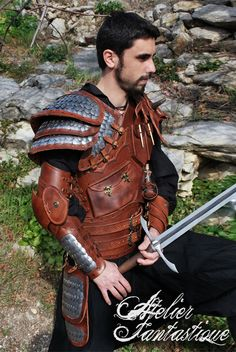 Dragon hunter Dovahkiin leather armor by AtelierFantastique on deviantART