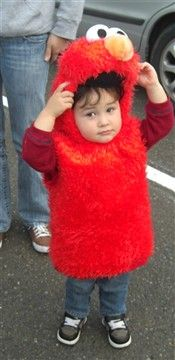 Christian as Elmo for Halloween