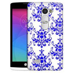 LG Leon Damasks Pattern Blue on White Slim Case