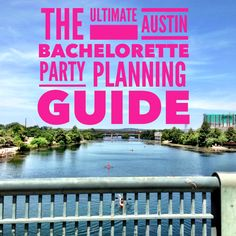 Updated August 2016!  Just as an FYI,you can purchase a digital download of a more detailed  itinerary for only $4.99! It has a lot of great info and I'll always answer  follow up questions regarding this itinerary!  Download a detailed itinerary for only $4.99!  I've lived in Austin for over eight years and have been to countless  bachelorette parties in the city. There are a lot of things to do, but  planning can logistically be difficult due to the nature of the city. Here  are my best ... Bachelorette Party Places, Bachelorette Itinerary, Bachelorette Party Planning, Bachelorette Weekend, Bachlorette Party, Weekend In Austin, Nashville, Digital, City