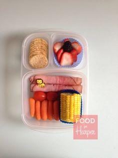 Healthy toddler @EasyLunchboxes ideas via http://foodforharper.com