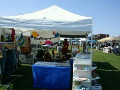 my EZ up tent at New Orleans Earth Day Festival & Green Business Expo