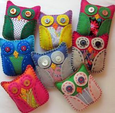 Batch of Mini Eco Felt Owls
