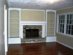 Bookcase Built In Bookshelves Around Fireplace | ... fireplace into a new tiled fireplace with built-in bookshelves. Before