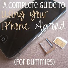 Traveling overseas? Check out this complete guide on how to use your iPhone abroad?