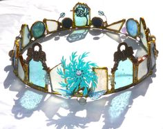 Art Crown Water and Sky  One of a Kind Stained Glass by urbangipsy