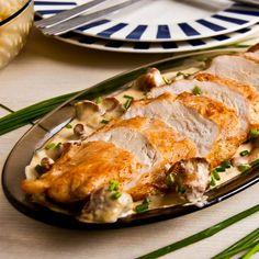 kurczak w sosie z kurkami