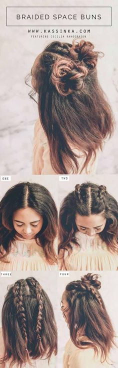 Best Pinterest Hair Tutorials - Braided Space Buns - Step By Step Tutorial From Pinterest - Check Out These Super Cute And Super Simple Hairstyles From The Best Pinterest Hair Tutorials Including Styles Like Messy Buns And Half Up Half Down Hairdos. Dutch Braids Are Super Hot Right Now Too. These Are The Best Hairstyle Tutorials Ideas On Pinterest Right Now. Easy Hair Up And Hair Down Ideas For Short Hair, Long Hair, and Medium Length Hair. Hair Tutorials For Braids, For Curls, And Step By…