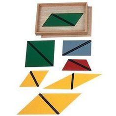 Farbige Dreiecke in 4-eckiger Box hochwertiges Lernspielzeug aus Holz   6737 / EAN:08854515021133