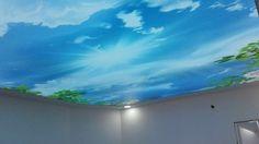 Ezcane gergi tavan, eczane barisol tavan, eczane gökyüzü tavan, eczane resimli asma tavan, istanbul, eczaneler, gergi tavan