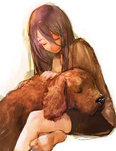 That's just the perfect piece of art. I personally love it. True love for a dog is what I call it...