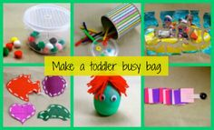 Make a Toddler Busy Bag | Toddler Activities | Activities For Kids