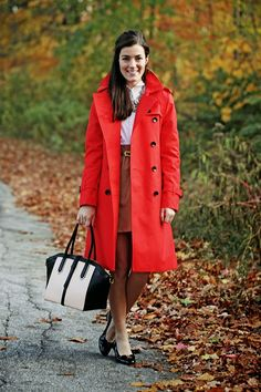 red trench classy