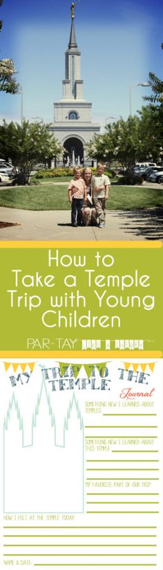 Tips for going to the temple with young children along with free printables- great outline to follow for a primary temple trip.