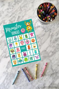 Monster birthday party printable BINGO cards, Alien family game night party game for kids Little Monster Party, Monster Birthday Parties, Birthday Party Games, Birthday Cards, Monster Games For Kids, Monster Decorations, Game Night Parties, Kids Party Games, Family Game Night