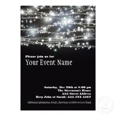 "SPARKLING STARS INVITATION. Make custom invitations and announcements for every special occasion! Add photos and text to both sides of this flat card for free. •5"" x 7"" (portrait) or 7"" x 5"" (landscape) •Choose from six paper types and nine colors •High quality, full-color, full-bleed printing on both sides •Each invitation comes with a white envelope •Additional sizes available $2.05"