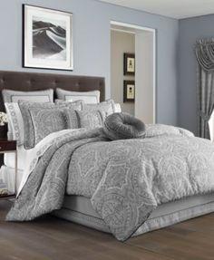 J Queen New York Colette Silver California King Comforter Set | macys.com