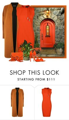 """""""Orange Door"""" by kimzarad1 ❤ liked on Polyvore featuring Warehouse, Gucci and Tory Burch"""