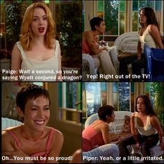 Charmed: this is why I was piper. And all the others I pin too.
